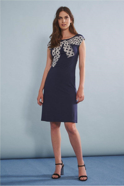 ISABEL DE PEDRO DRESS WITH POLKA DOT SWEATER PRINT 1100VE586