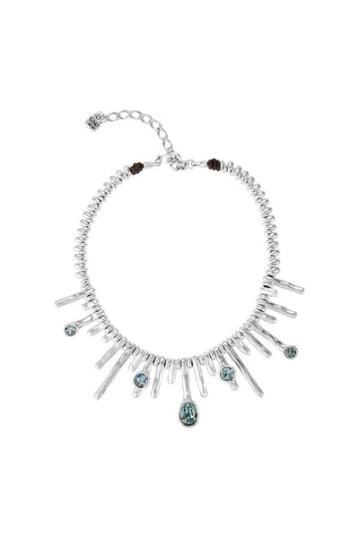 UNO DE 50 SHORT NECKLACE WITH SWAROVSKI CRYSTALS COL1349AZUMTL0U