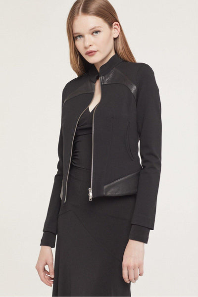 ISABEL DE PEDRO JACKET WITH LEATHER TRIM