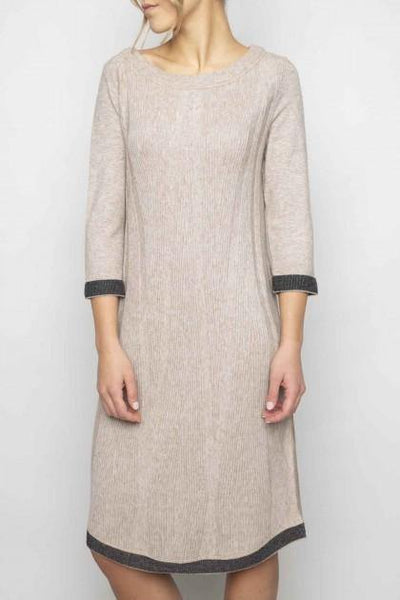 ELISA CAVALETTI FINE RIB BLOCK BACK JUMPER/SWEATER DRESS 202066710 - Lizardfashion