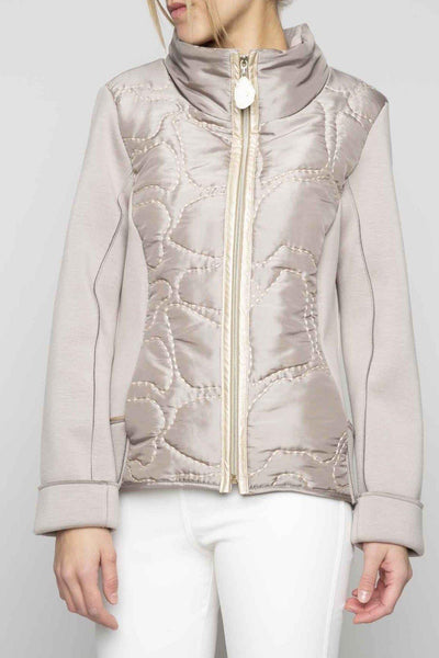 ELISA CAVALETTI FOAM BACK PUFFER FRONT STITCH DETAIL COAT 207041500