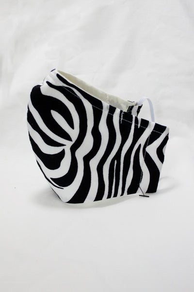 MASK FORMED NOSE THREE LAYERS ZEBRA