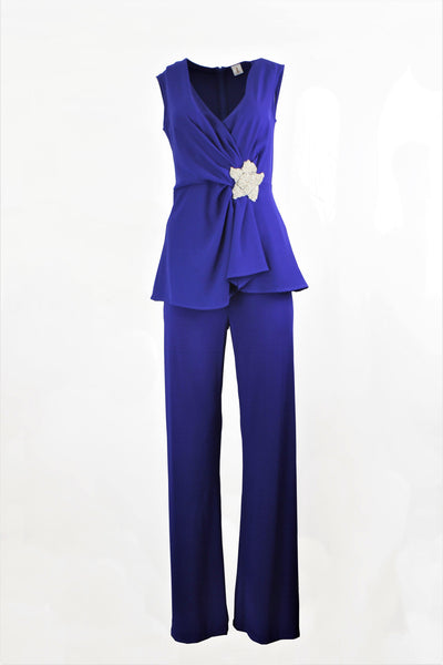 1 ONE COLLECTION ROYAL BLUE TROUSERS Z0009-0103