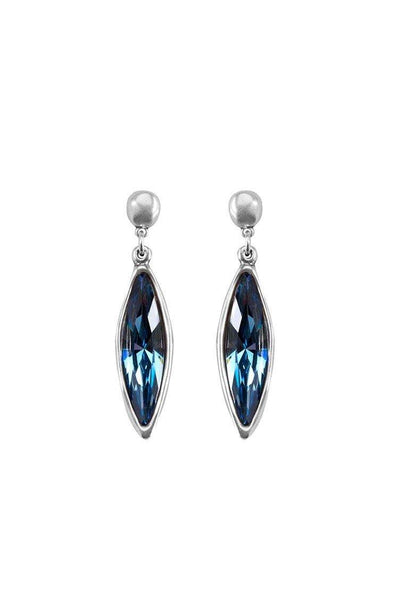 UNO DE 50 TEARDROP LONG BLUE CRYSTAL EARRINGS PEN0399