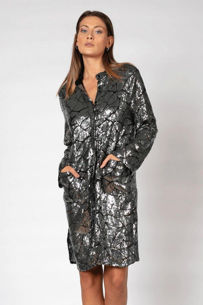 RELIGION CONNECTION SEQUINED KAFTAN JACKET 78HCNJ58 - Lizardfashion