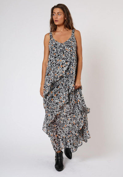 RELIGION JOYOUS CHASE PRINT MAXI DRESS 59HJSD42