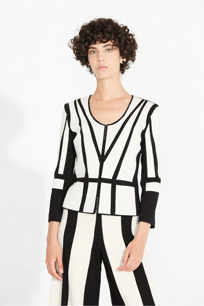 JACKET DOUBLE JERSEY GEOMETRIC PANNELS - Lizardfashion