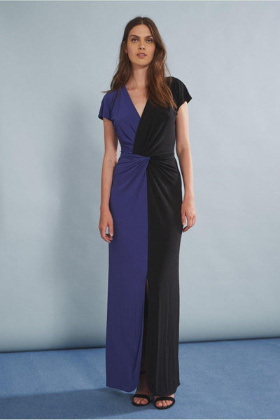 ISABEL DE PEDRO TWO TONE MAXI DRESS   4000VE599 - Lizardfashion