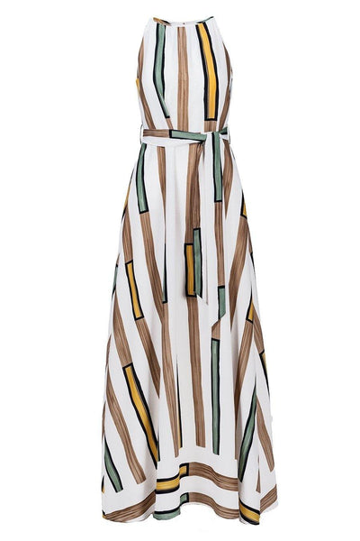 ANONYME DRESS MAXI RECTANGULAR PRINT - Lizardfashion