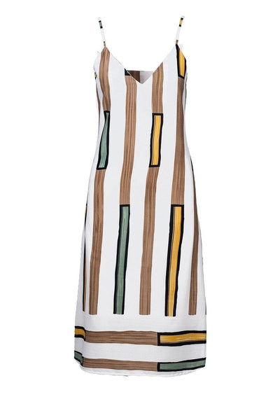 ANONYME DRESS MIDI RECTANGULAR PRINT U119SD036 - Lizardfashion