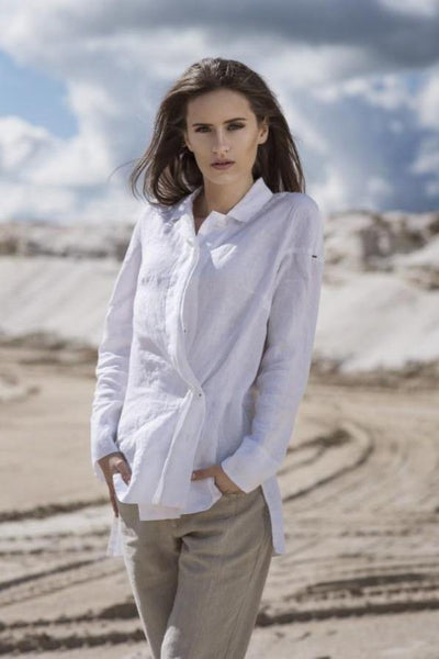 LUEL LINEN SHIRT  SL5601 - Lizardfashion