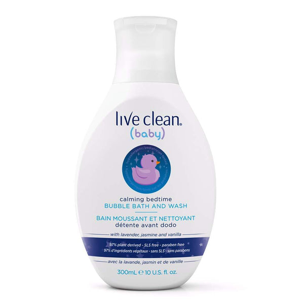 Live Clean Baby Calming Bedtime Bubble Bath and Wash, 10 oz.