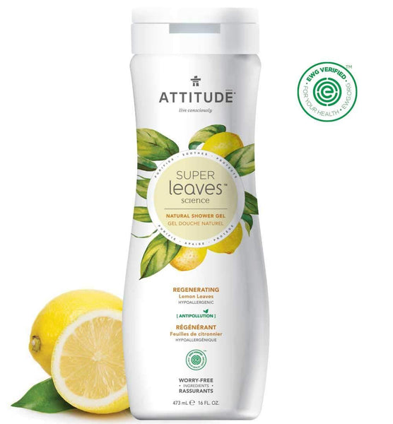 ATTITUDE Super Leaves Regenerating Body Wash Lemon Leaves 16Oz