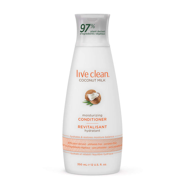 Live Clean Coconut Milk Moisturizing Conditioner, 12 oz.