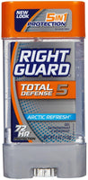2 Pack - Right Guard Total Defense 5 Power Gel Deodorant Arctic Refresh 4 Oz