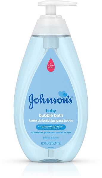 JOHNSON'S Paraben-Free Baby Bubble Bath Gentle Baby Skin Care 16.9 oz