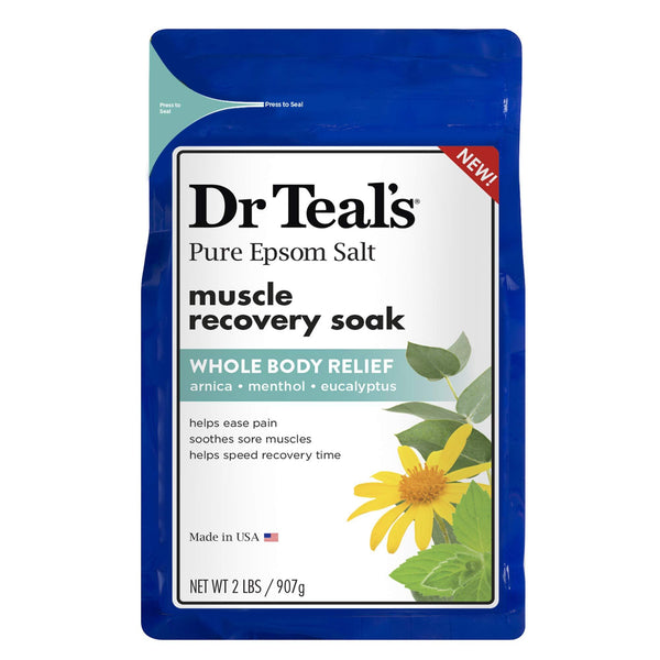 2 Pack - Dr. Teal's Epsom Salt - Muscle Recovery Soak 2lb