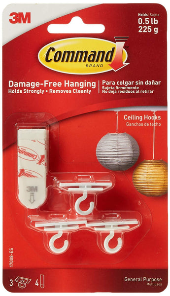 2 Pack - 3CT Command Ceil Hooks