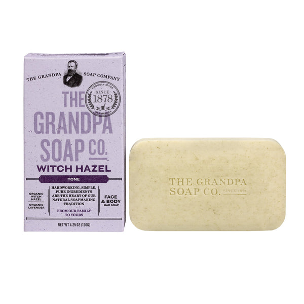 2 Pack - Grandpa's Witch Hazel Bar Soap Soft and Gentle, 4.25 Ounce