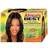 3 Pack - Africa's Best Dual Conditioning No-Lye Relaxer System Regular