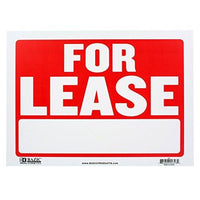 2 Pack - Bazic Small 9 x 12 Inches For Lease Sign (S-9)