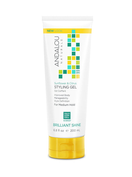 2 Pack - Andalou Naturals Sunflower & Citrus Brilliant Shine Styling Gel 6.8oz