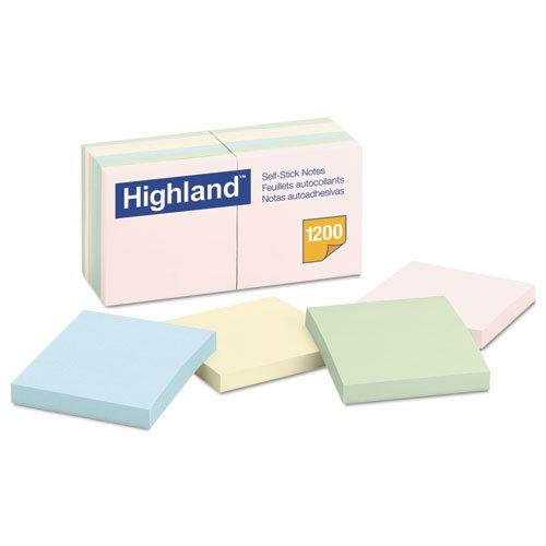 Sticky Note Pads, 3 x 3, Assorted Pastel, 100 Sheets, 12ct