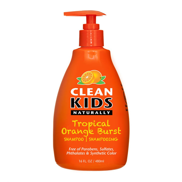 Clean Kids Naturally, Shampoo, Tropical Orange Burst, 16oz.