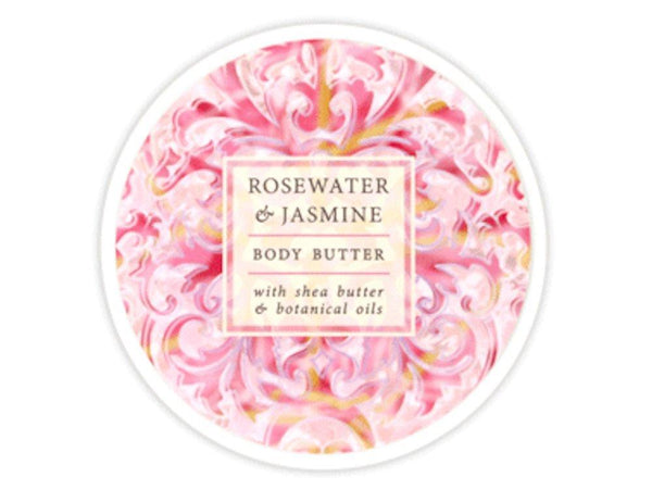 2 Pack - Greenwich Bay Botanic Body Butter Rosewater & Jasmine 8oz Tub