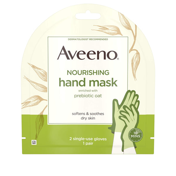 2 Pack - Aveeno Moisturizing Hand Therapy Mask With Oat