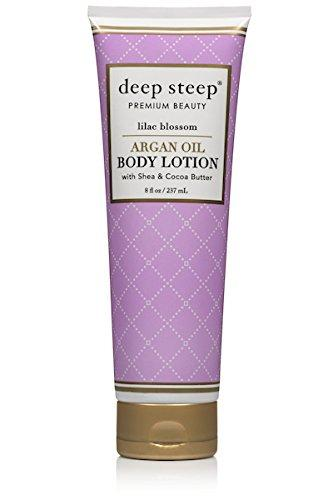 Deep Steep Argan Oil Body Lotion, Lilac Blossom, 8 Fluid Ounce