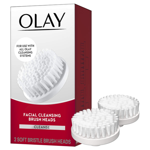 Olay Advanced Facial Cleansing Replacement Brush Heads, 2 Count
