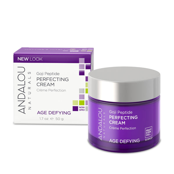 2 Pack - Andalou Naturals Goji Peptide Perfecting Cream, 1.7 oz