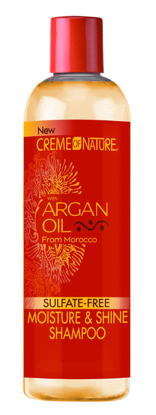 Creme of Nature Moisture & Shine Shampoo with Argan Oil: 12 OZ