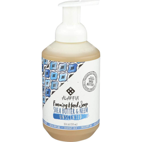 Alaffia Everyday Shea Foaming Hand Soap Unscented, 18 Ounces