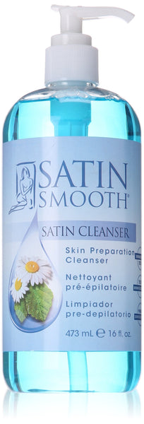 Satin Smooth Satin cleanser skin preparation cleanser, 16oz
