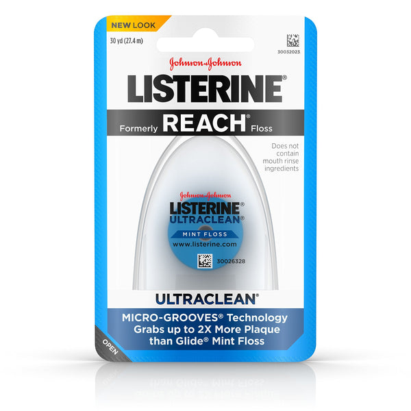 2 Pack - Listerine Ultraclean Floss, Mint, 30 yd