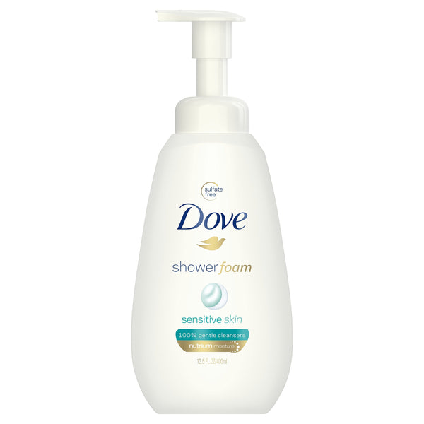 Dove Shower Foam, Sensitive Skin, 13.5 oz