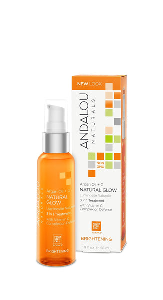 Andalou Naturals Argan Oil + C Natural Glow 3 in 1 Treatment 1.9 Oz
