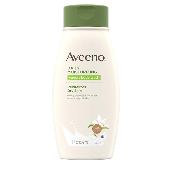 Aveeno Daily Moisturizing Body Yogurt Body Wash Vanilla And Oats 18oz