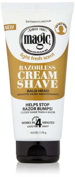 2 Pack - Magic Razorless Cream Shave Bald Head 6oz Tube