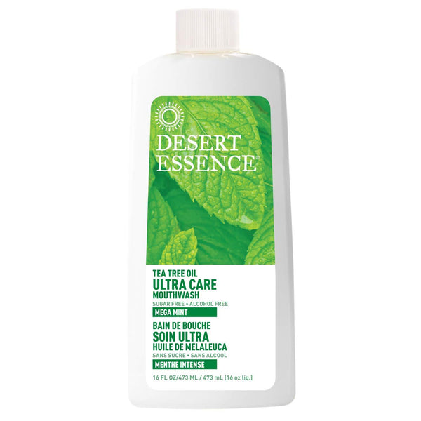 2 Pack - Desert Essence Nat Tea Tree Oil Ultra Care Mouthwash Mega Mint 16Oz