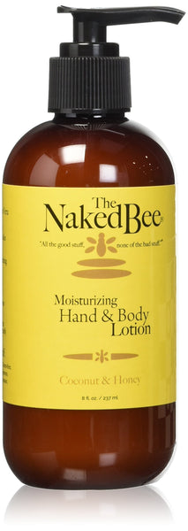 2 Pack - The Naked Bee Moisturizing Hand & Body Lotion, 8oz, Coconut & Honey