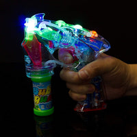 LED Transparent Bubble Gun7in Shooter for Kids