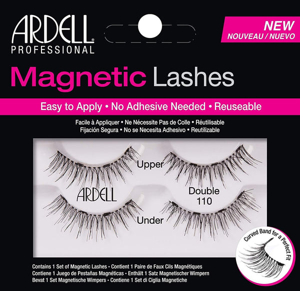 2 Pack - Ardell Professional Magnetic Double Strip Lashes, 110 Black