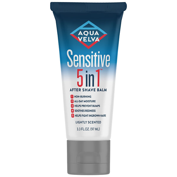 Aqua Velva Sensitive 5 in 1 After Shave Balm, 3.3 Ounce