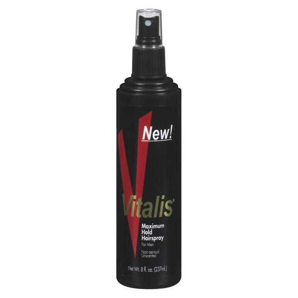 Vitalis Hairspray Pump Maximum Hold, 8 Ounce