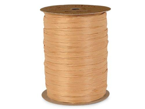 "Gold Matte Raffia Ribbon, 1/4"" X 100 Yards"