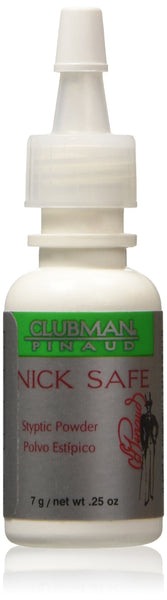 2 Pack - Clubman Nick Safe Styptic Powder Bottle 0.25 oz