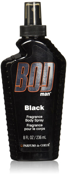 2 Pack - Parfums De Coeur Bod Man Black Fragrance Body Spray for Men, 8 Ounce